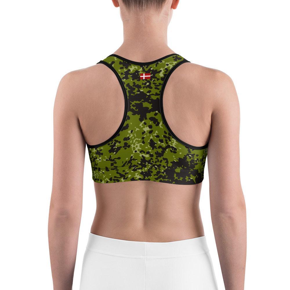 Danish M84 woods pattern Camouflage Sports bra