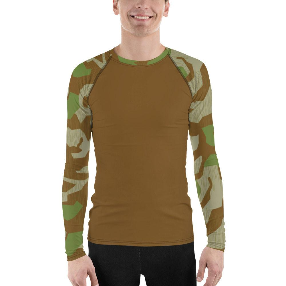 WWII Germany Heeres Splittertarn V.2 UBAC's Style Men's Rash Guard MKII Brown