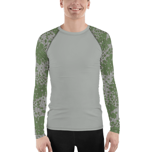 Bulgarian Fogskin 68 UBAC's Style Men's Rash Guard Grey