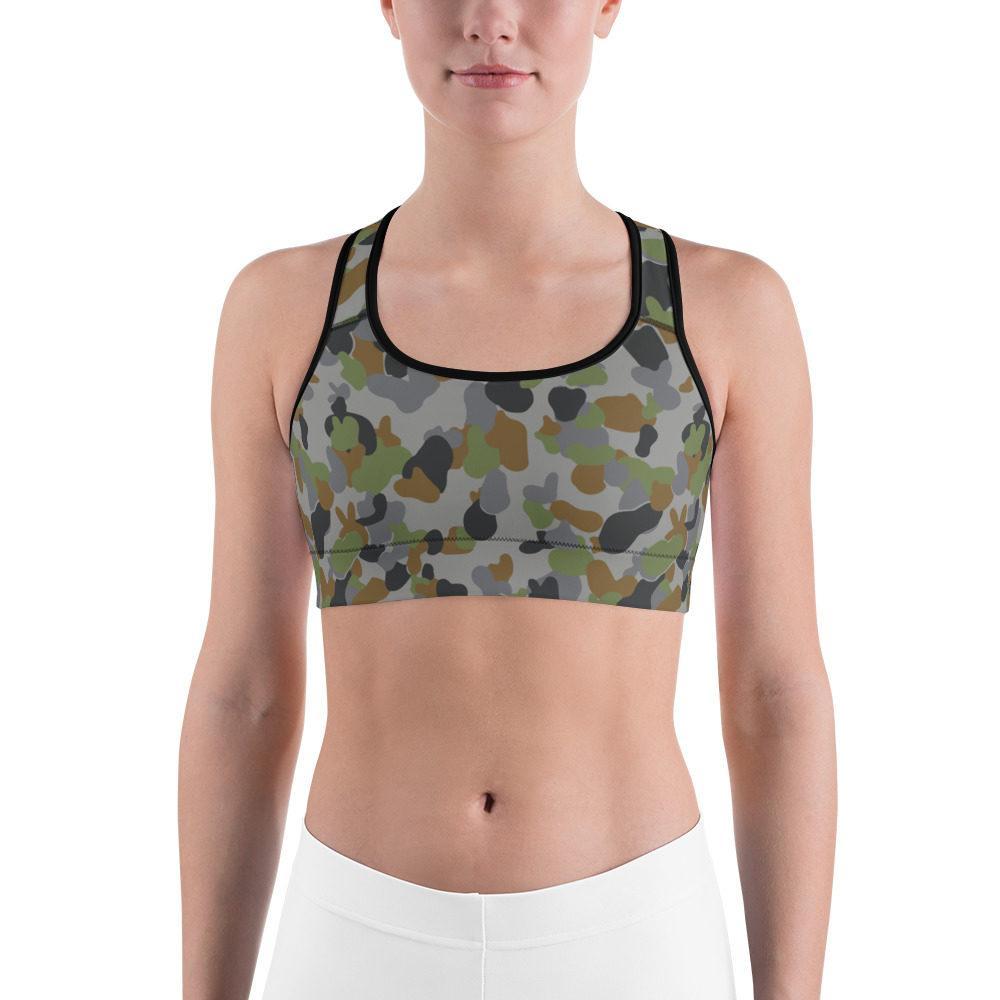 Australian AUSCAM AFDPU Camouflage Sports bra