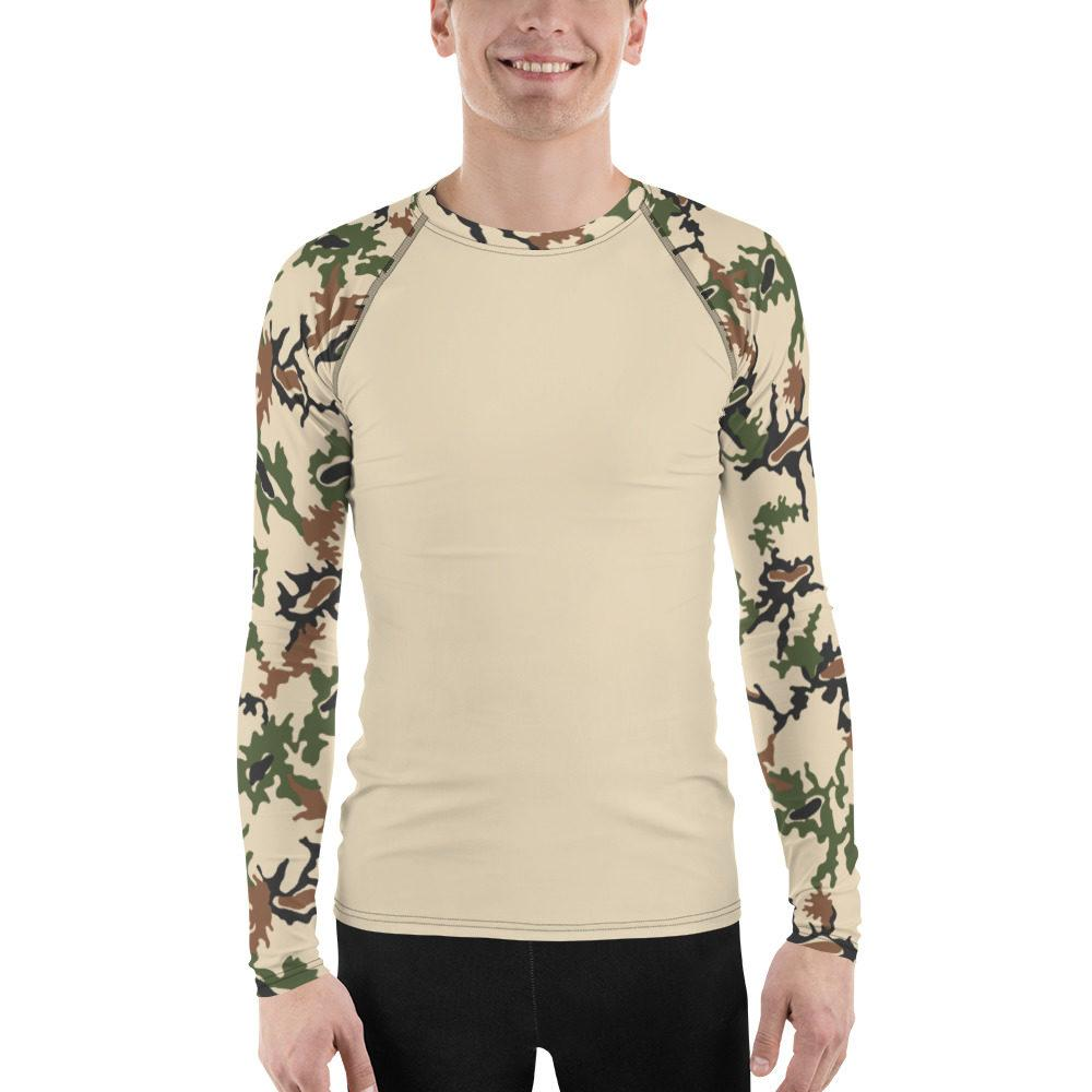 Egyptian Scrambled Eggs UBAC's Style MKII Men's Rash Guard Sand