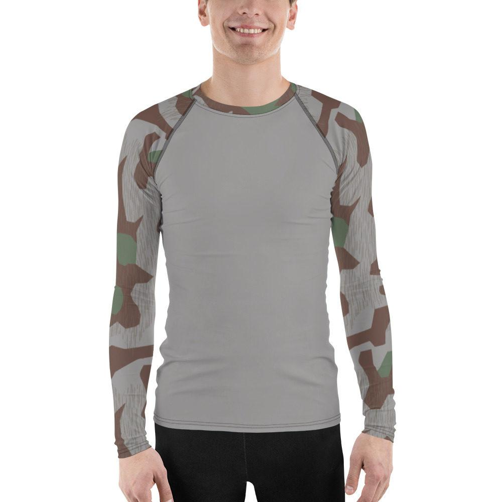WWII Germany Heeres Splittertarn UBAC's Style Men's Rash Guard MKII Grey