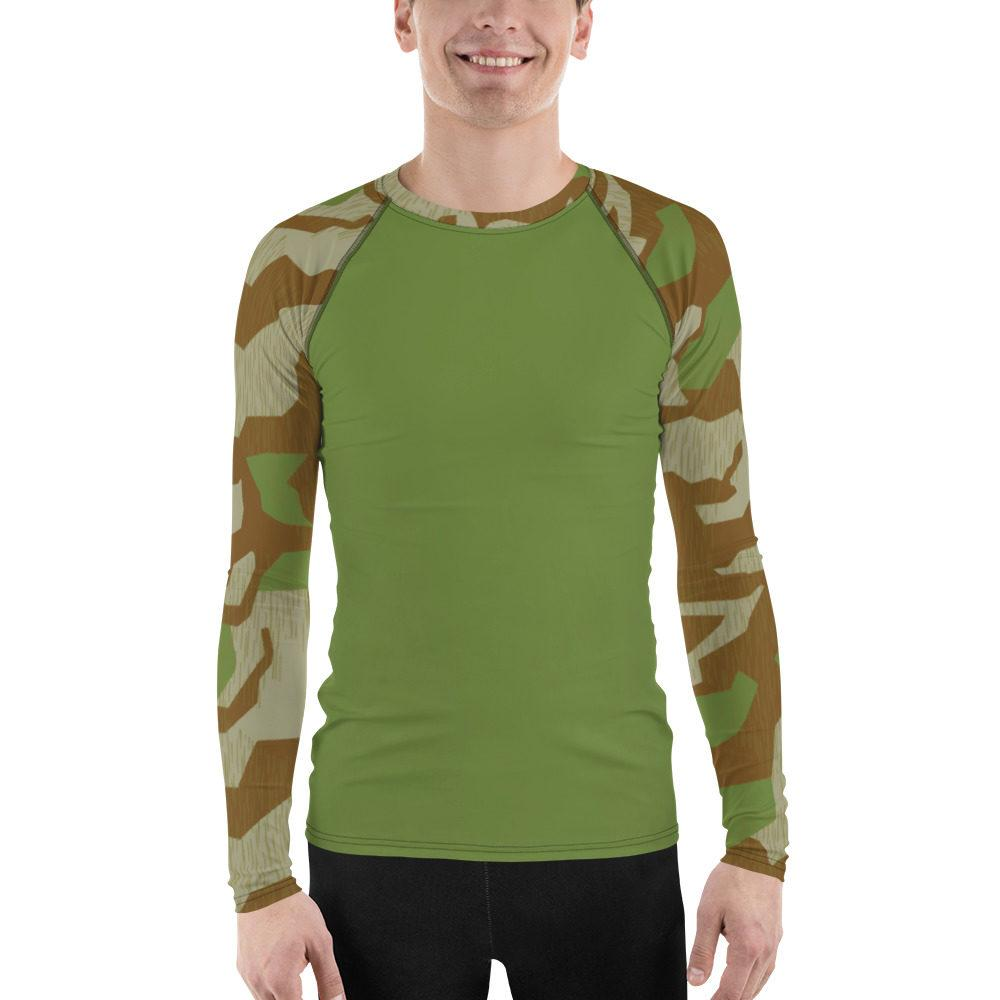WWII Germany Heeres Splittertarn V.2 UBAC's Style Men's Rash Guard MKII Green