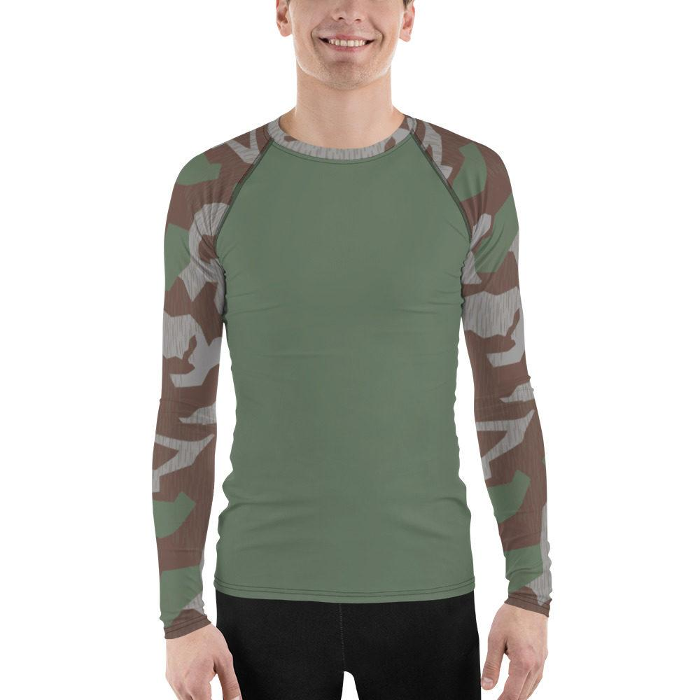 WWII Germany Heeres Splittertarn UBAC's Style Men's Rash Guard MKII Green