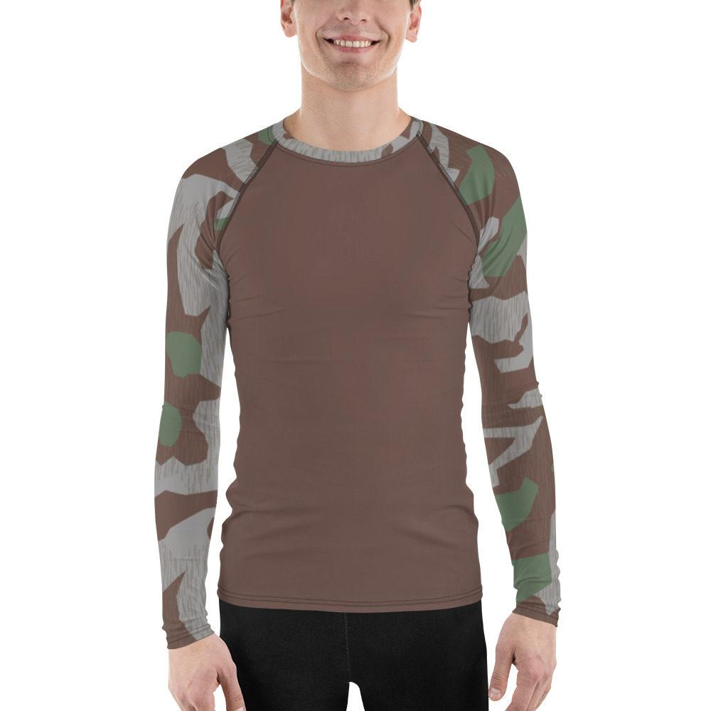 WWII Germany Heeres Splittertarn UBAC's Style Men's Rash Guard MKII Brown