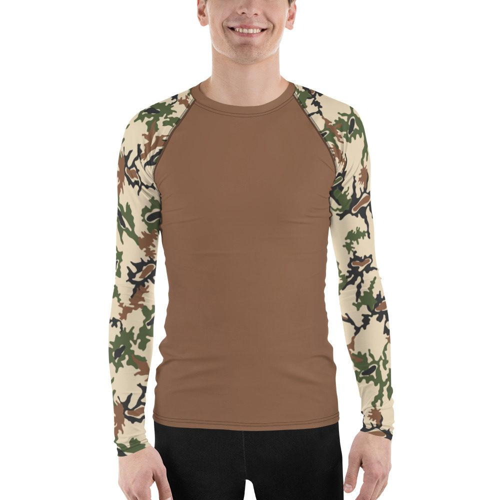 Egyptian Scrambled Eggs UBAC's Style Men's Rash Guard Brown