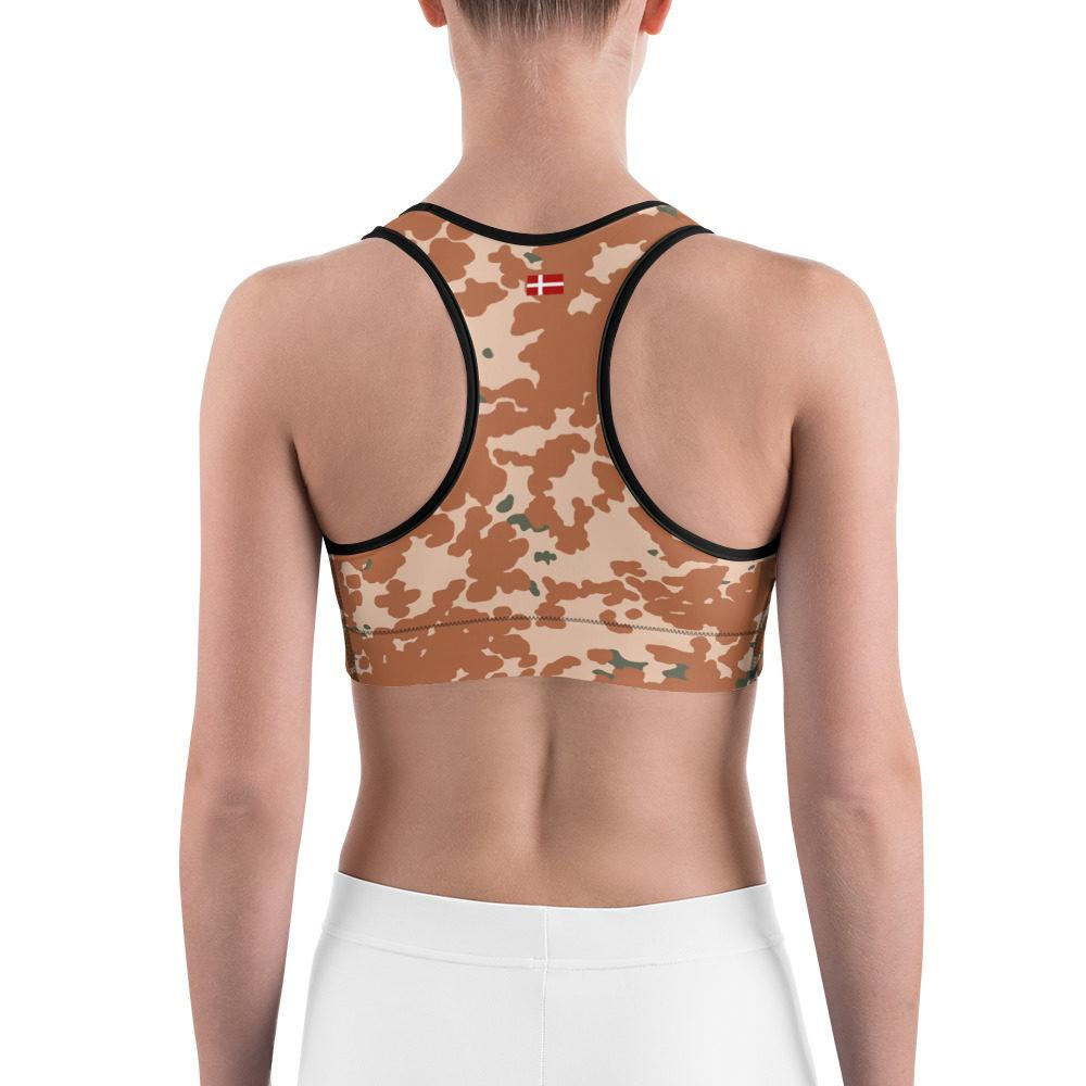 Danish M84 Desert pattern Camouflage Sports bra