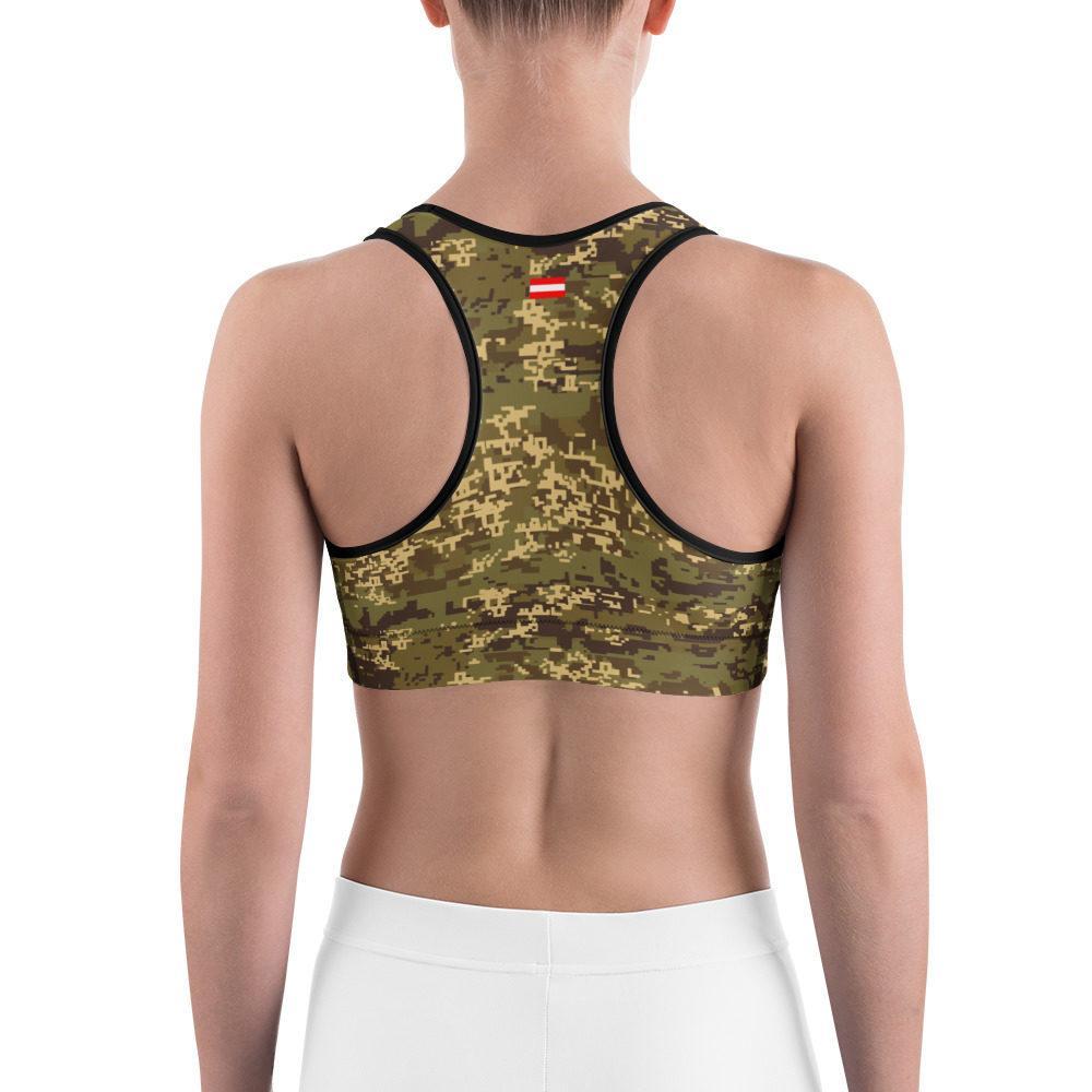 Austrian Jagdkommando Pixeltarnung Temperate Camouflage Sports bra