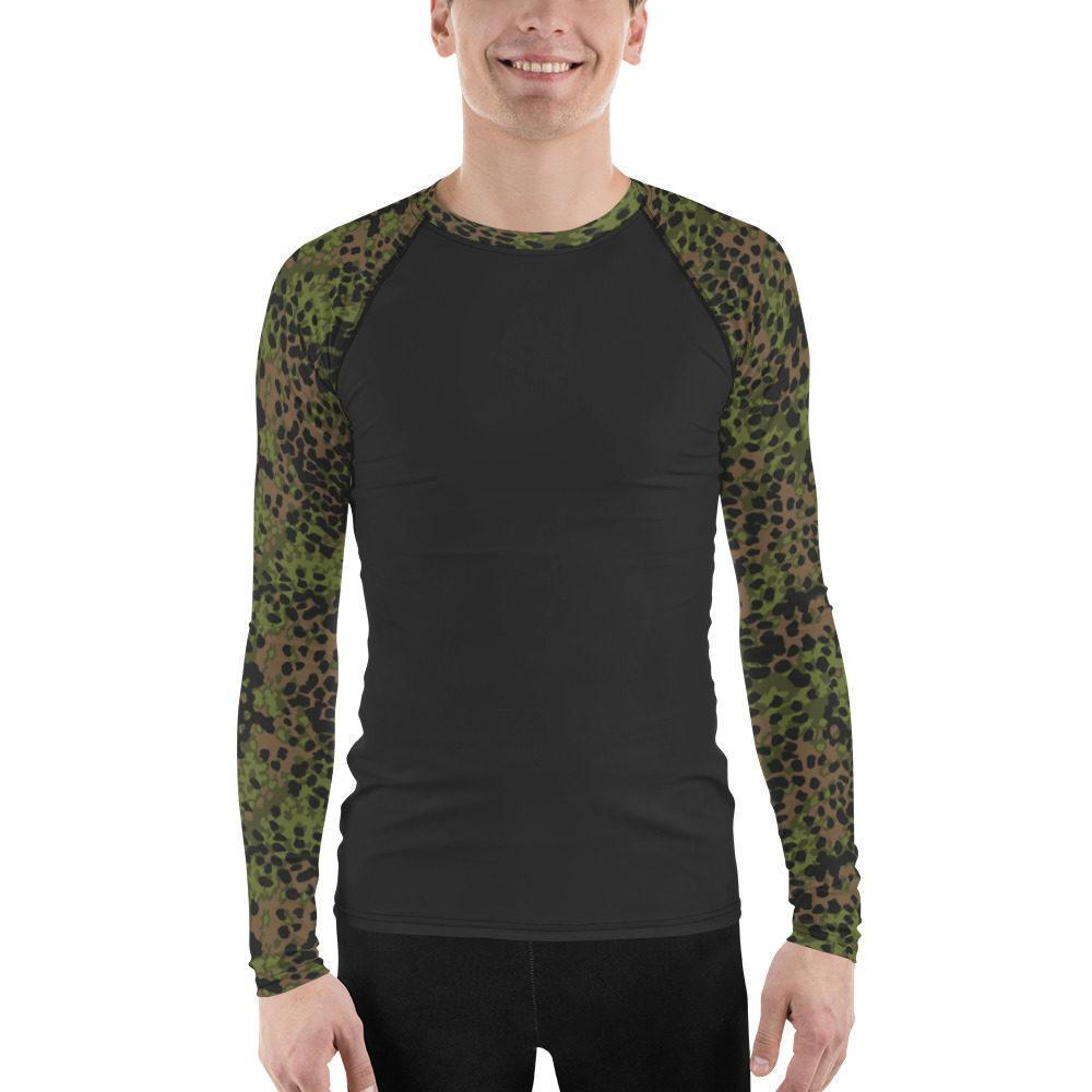 WWII Germany Platanenmuster spring UBAC's Style Men's Rash Guard MKII Charcoal