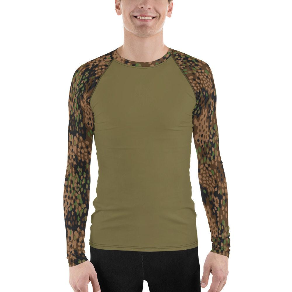 WWII Germany Pea Dot 44 UBAC's Style Men's Rash Guard MKII Khaki