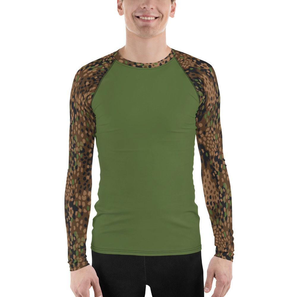 WWII Germany Pea Dot 44 UBAC's Style Men's Rash Guard MKII Green