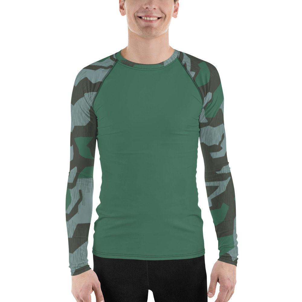 WWII Germany Luftwaffe Splittertarn UBAC's Style Men's Rash Guard MKII Green
