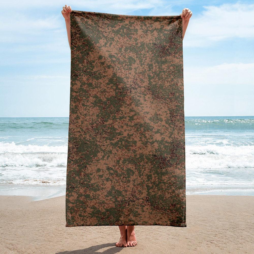 Russian 2008 EMR Digital Flora Airborne beach Towel