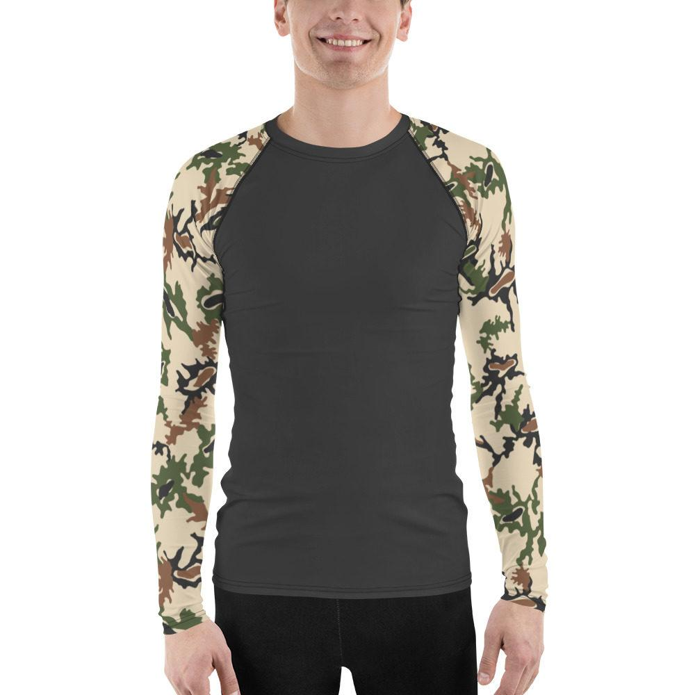 Egyptian Scrambled Eggs UBAC's Style Men's Rash Guard Charcoal