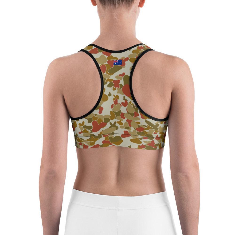 Australian AUSCAM OPFOR Musoria Camouflage Sports bra