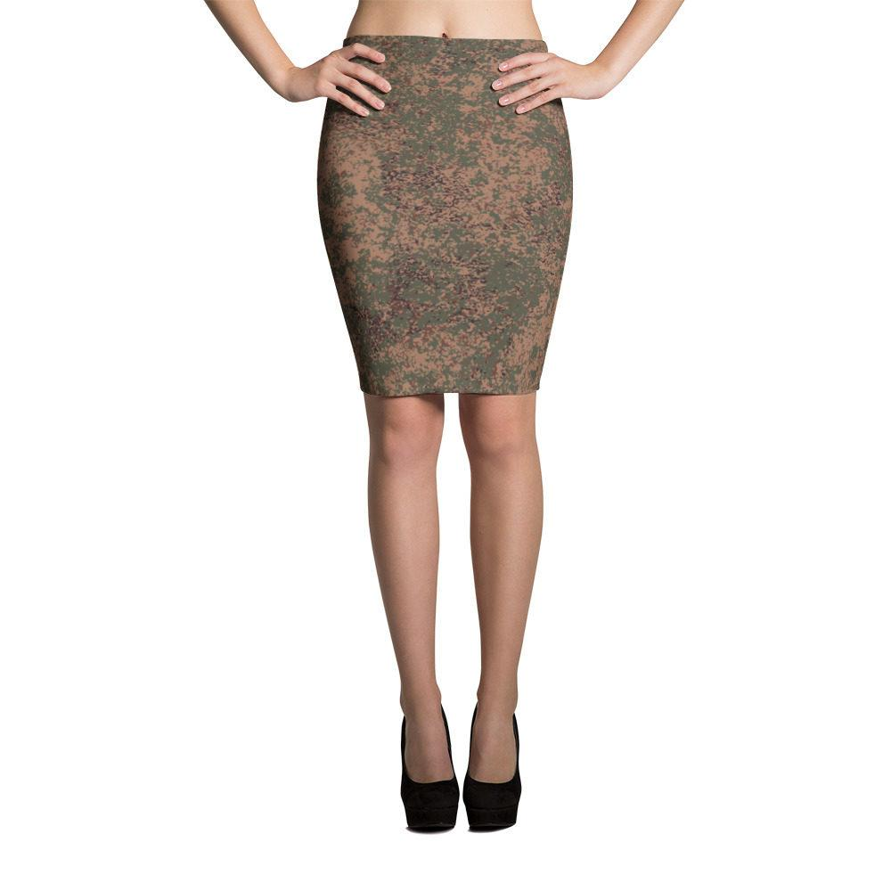 Russian 2008 EMR Digital Flora Airborne Pencil Skirt