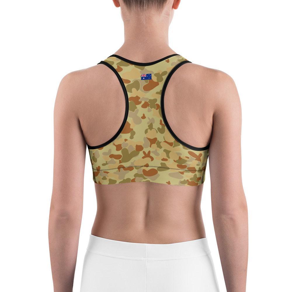 Australian AUSCAM DPMU MID-POINT Camouflage Sports bra