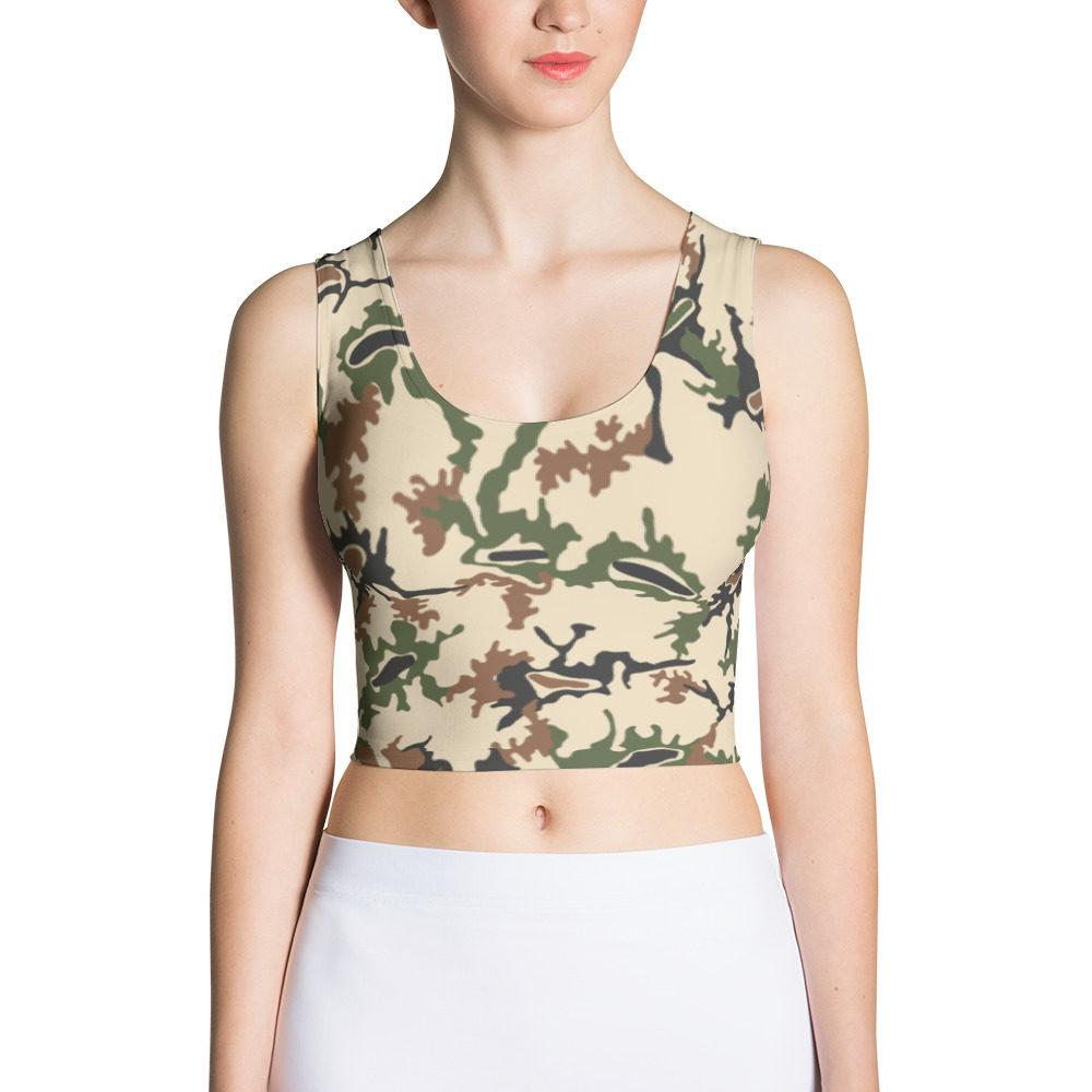 Egyptian 1990's Scrambled Eggs Cut & Sew Crop Top
