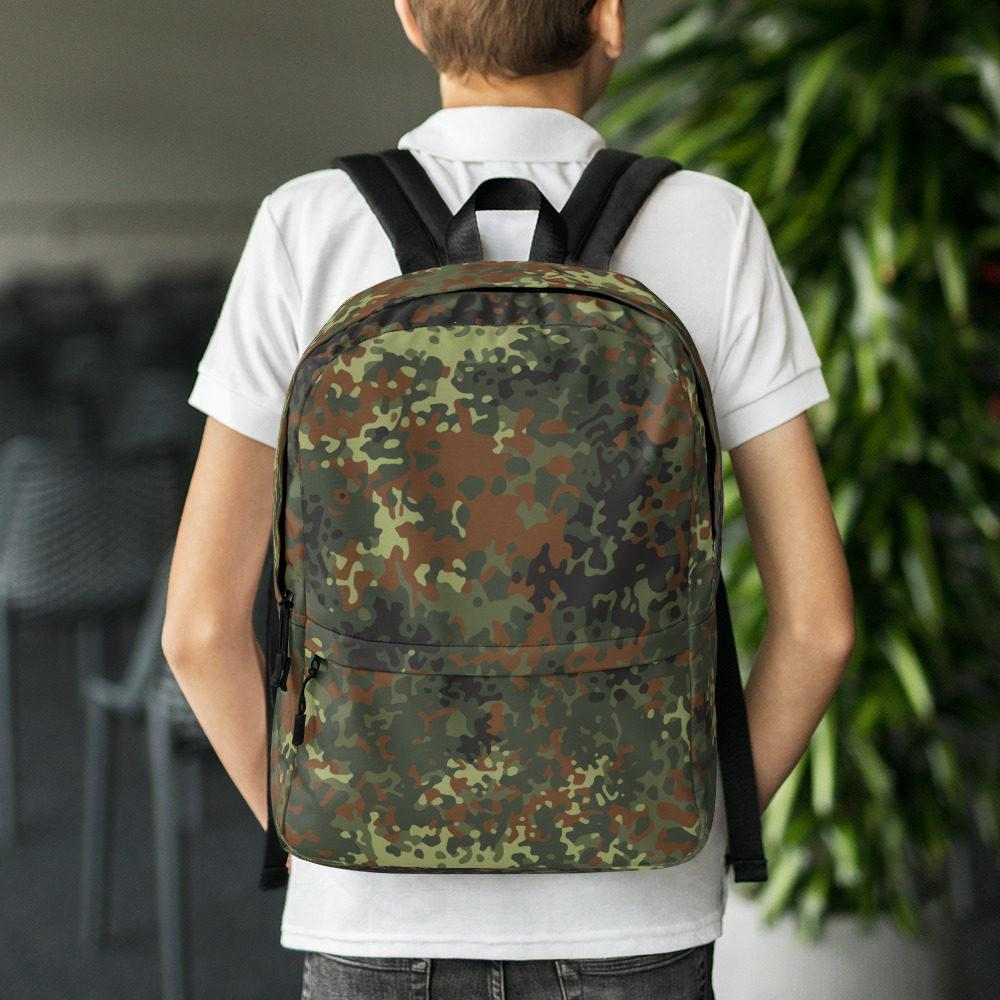 German Flecktarn Camouflage Backpack