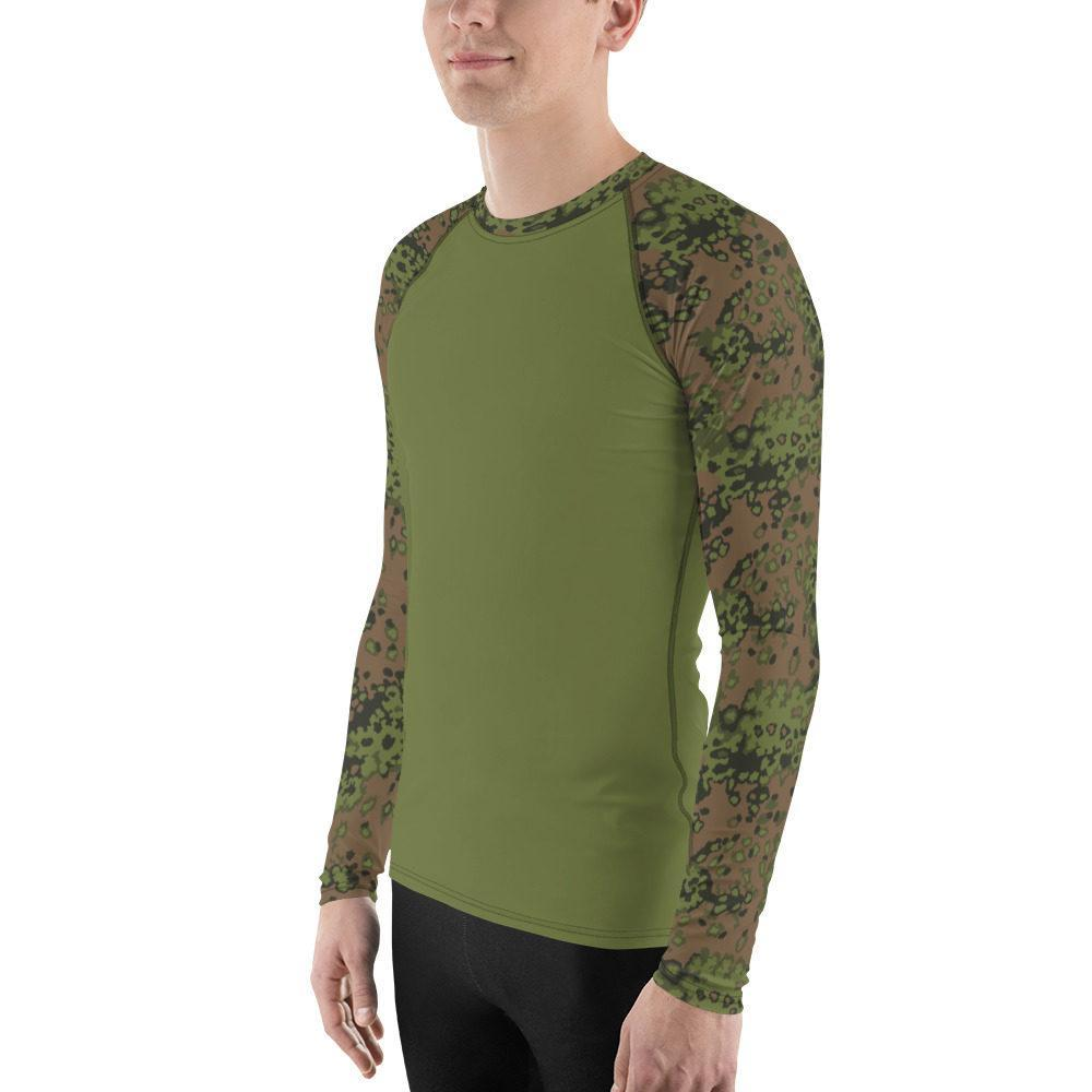mockup 327986f7 - WWII Germany Eichenlaub Spring UBAC's Style Men's Rash Guard MKII Light Green