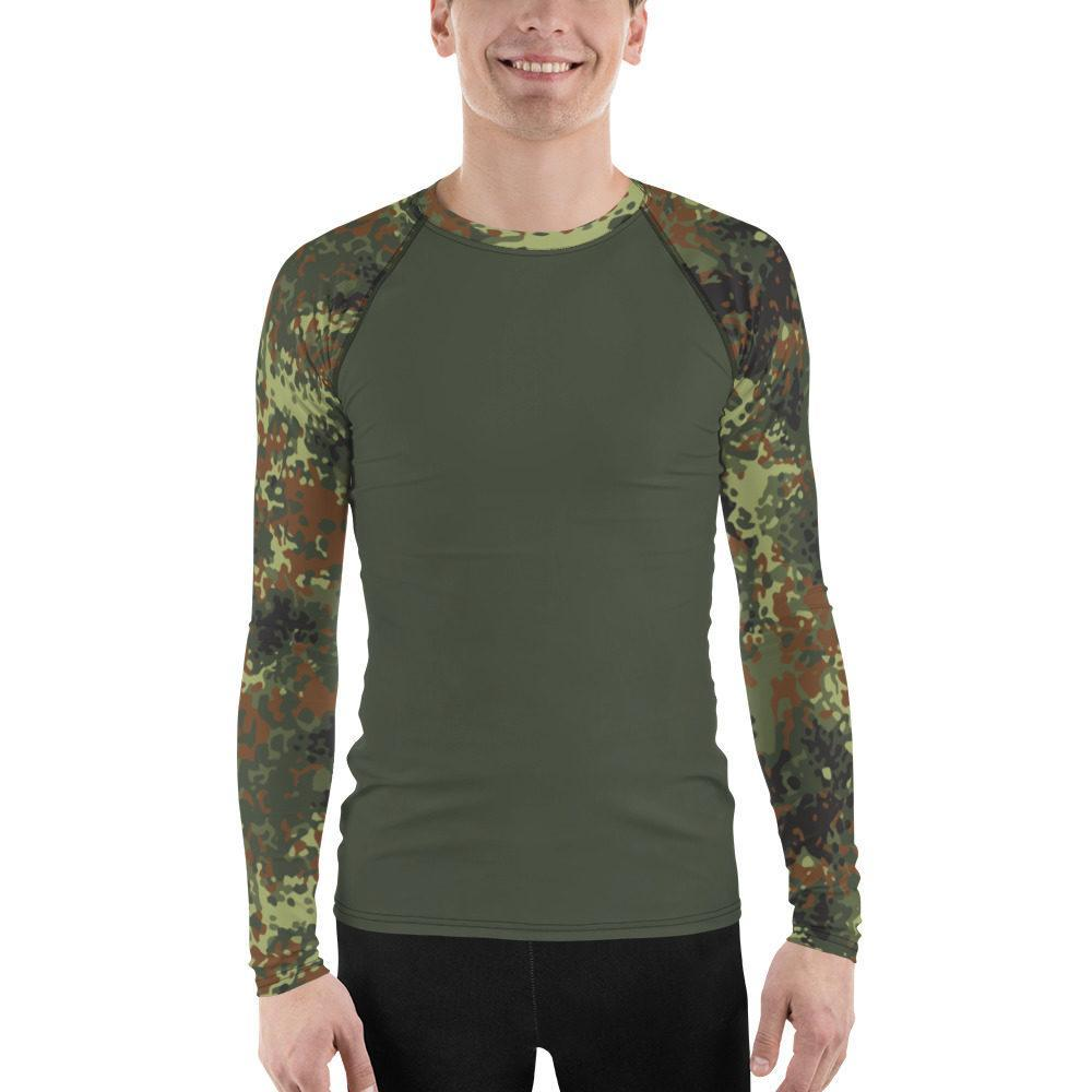 German Flecktarn UBAC's Style Men's Rash Guard MKII Dark Green