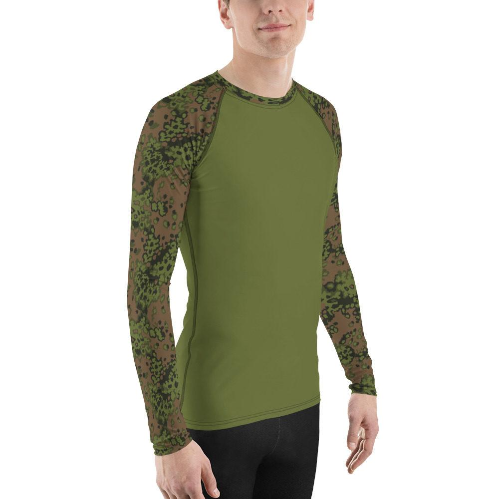 mockup 3c144476 - WWII Germany Eichenlaub Spring UBAC's Style Men's Rash Guard MKII Light Green