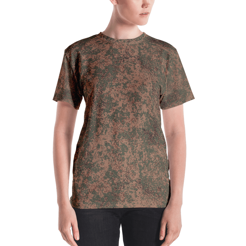 mockup 451d4180 - Russian 2008 EMR Digital Flora Airborne Camouflage Women's T-shirt