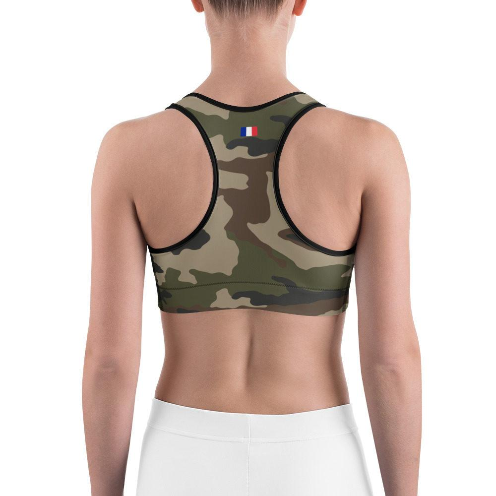 French CCE Centre Europe Camouflage Sports bra