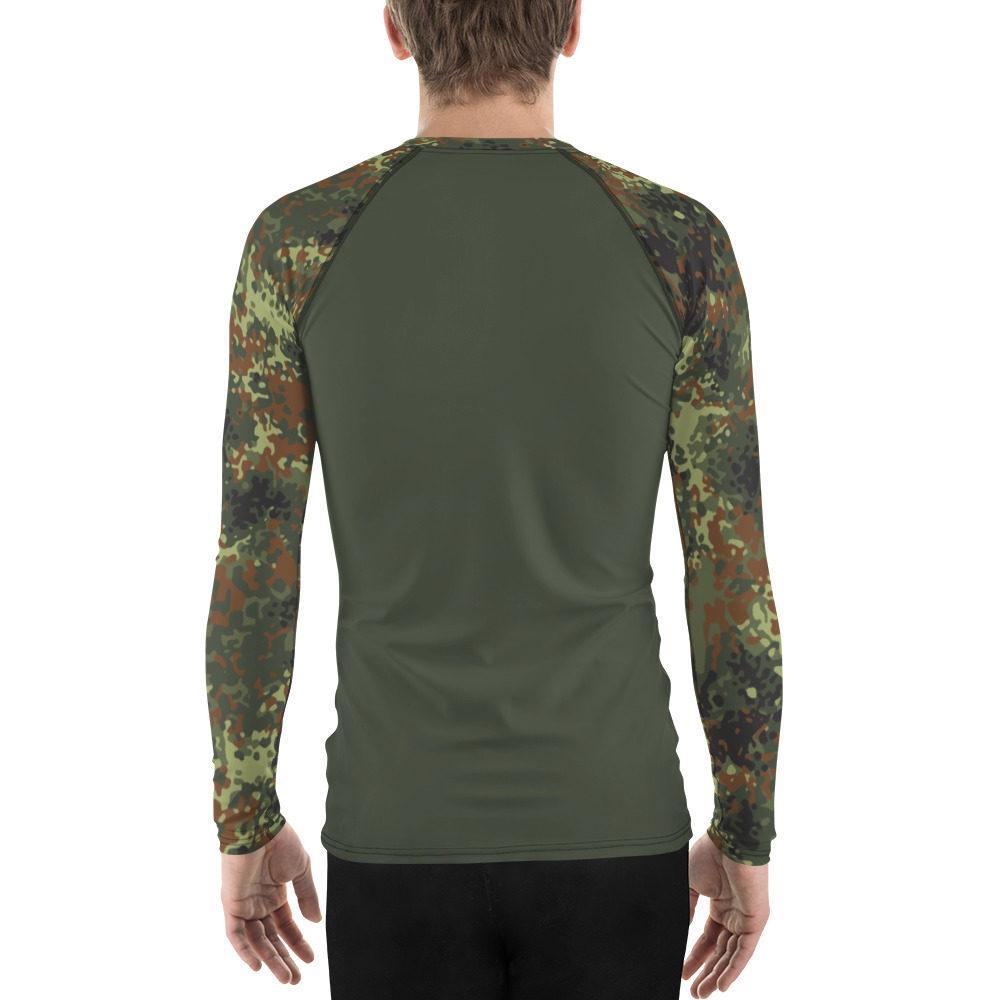 German Flecktarn UBAC's Style Men's Rash Guard MKII Dark Green
