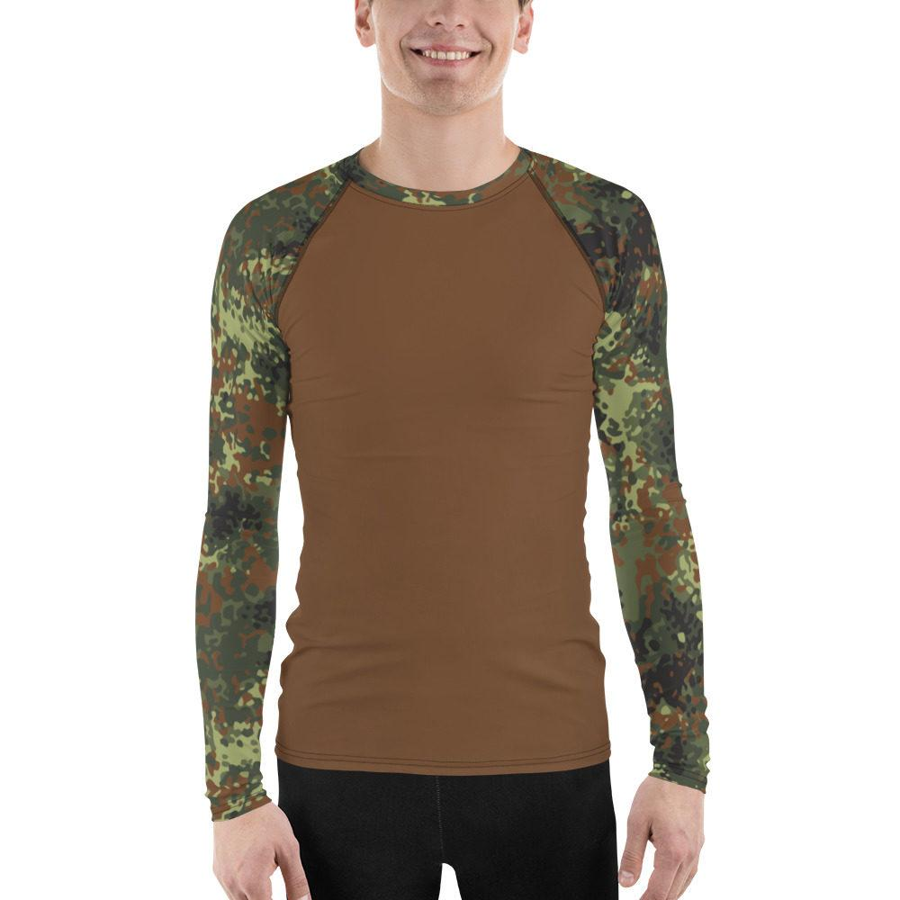 mockup 7a4df3e8 - German Flecktarn UBAC's Style Men's Rash Guard MKII Brown