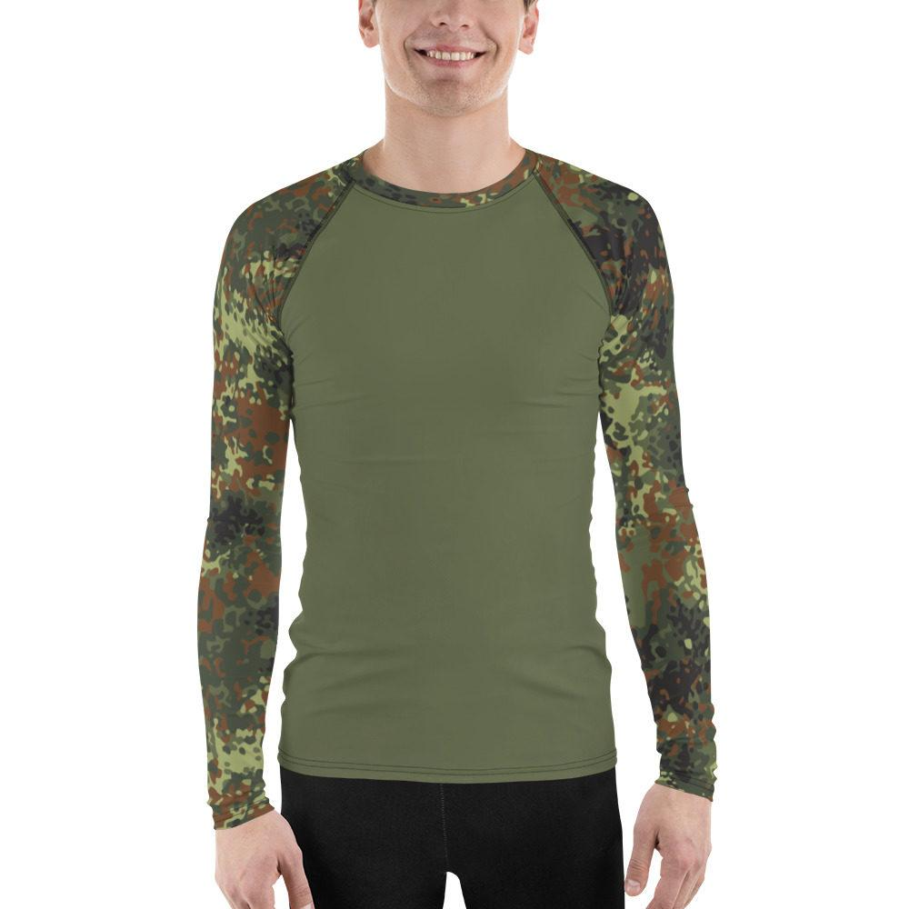 German Flecktarn UBAC's Style Men's Rash Guard MKII Medium Green