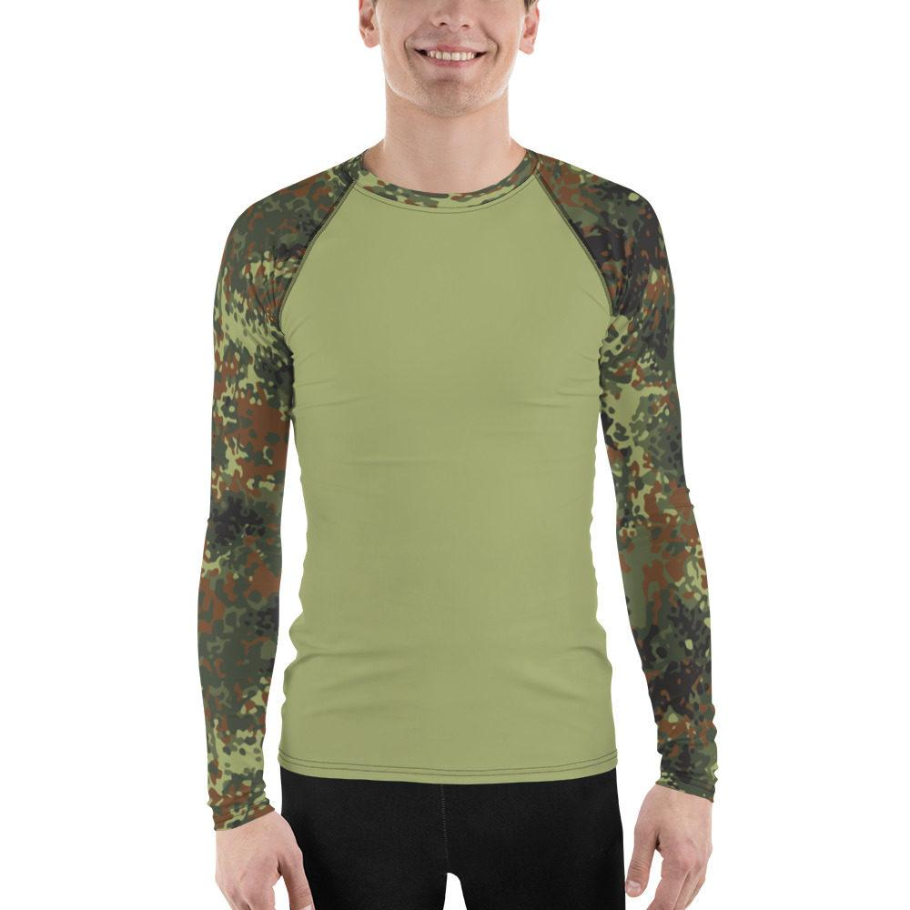 German Flecktarn UBAC's Style Men's Rash Guard MKII Light Green
