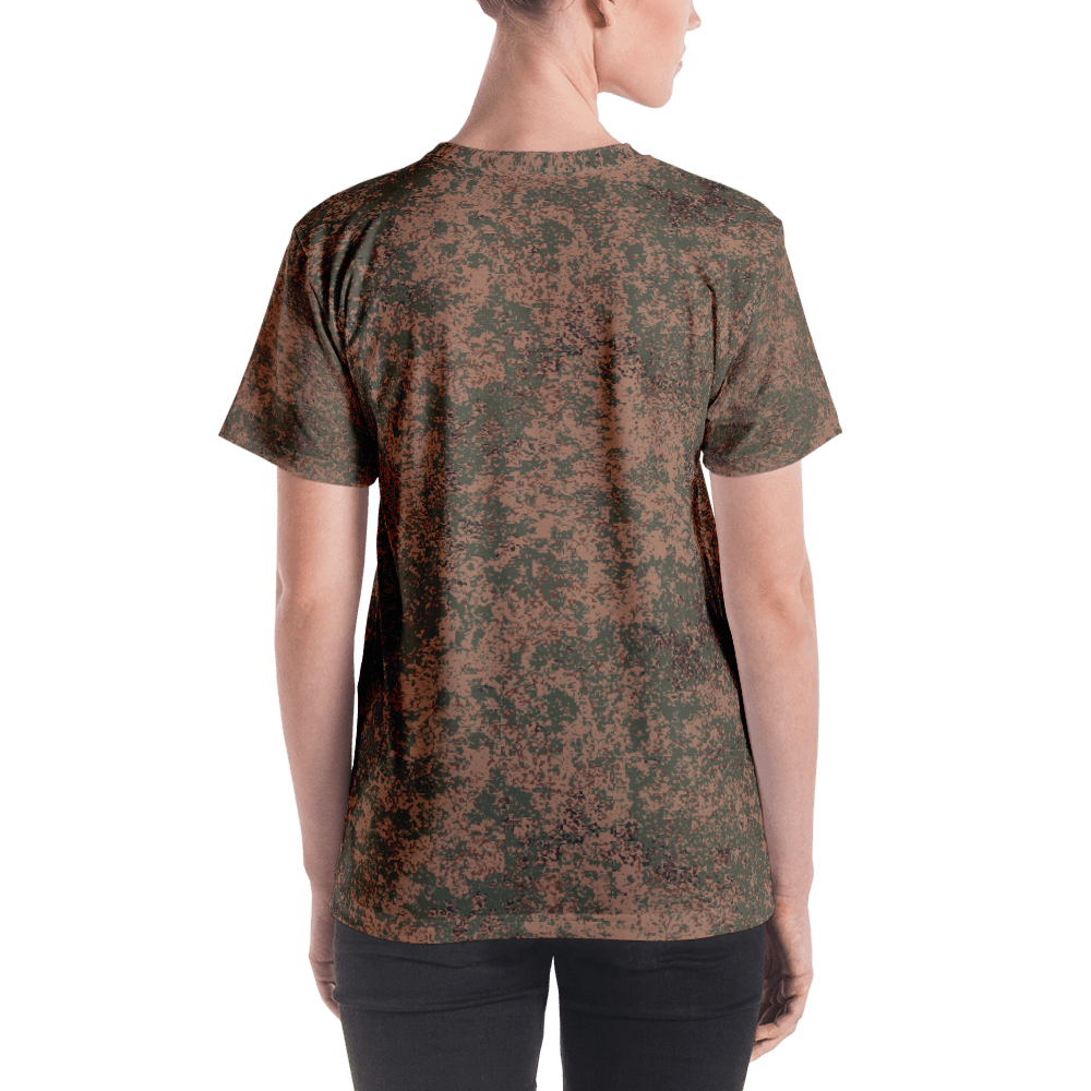 mockup ae0435ff - Russian 2008 EMR Digital Flora Airborne Camouflage Women's T-shirt