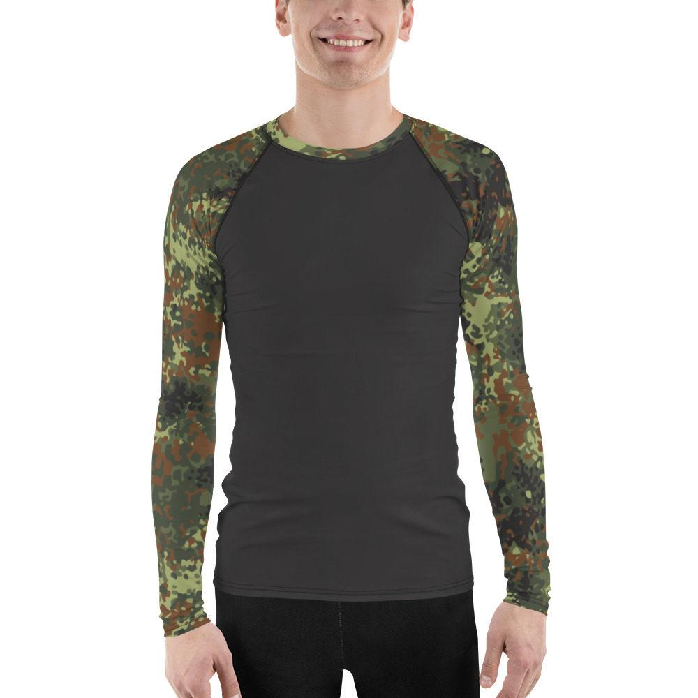 German Flecktarn UBAC's Style Men's Rash Guard MKII Charcoal