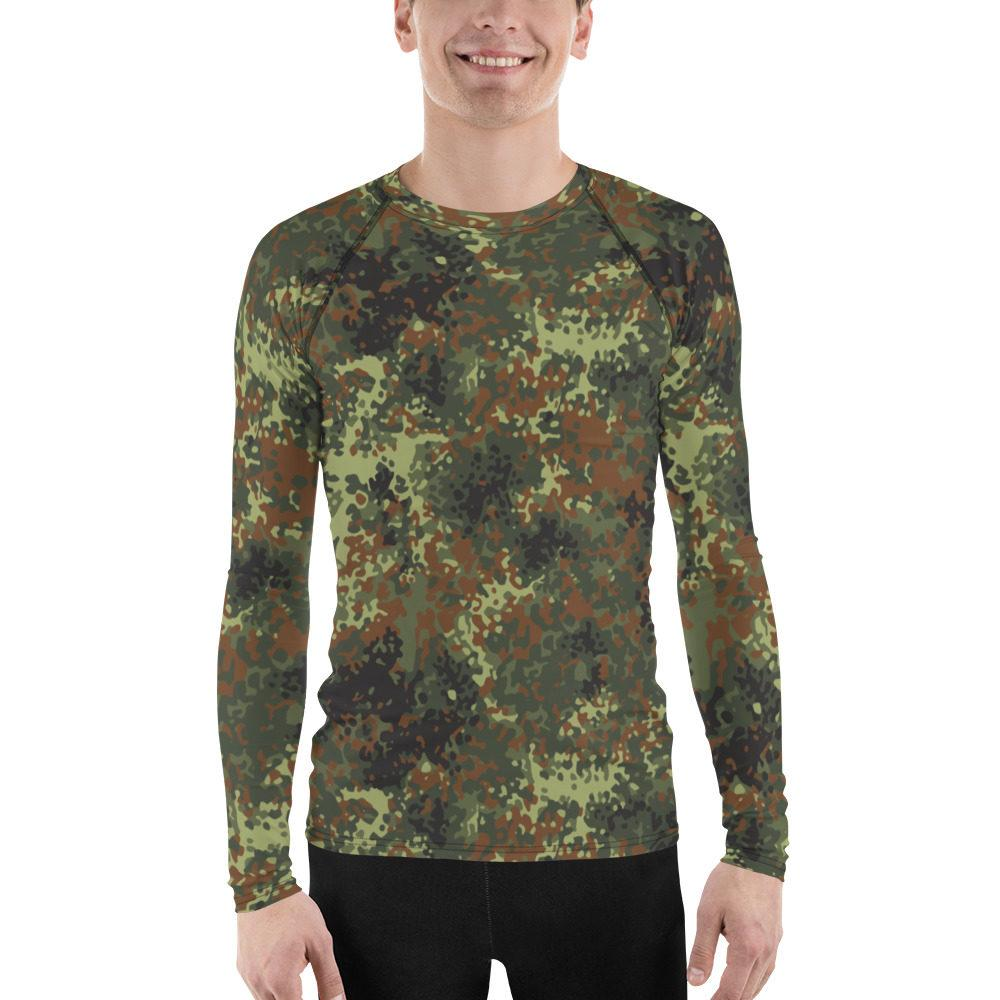 mockup b942e9f0 - German Flecktarn Men's Rash Guard