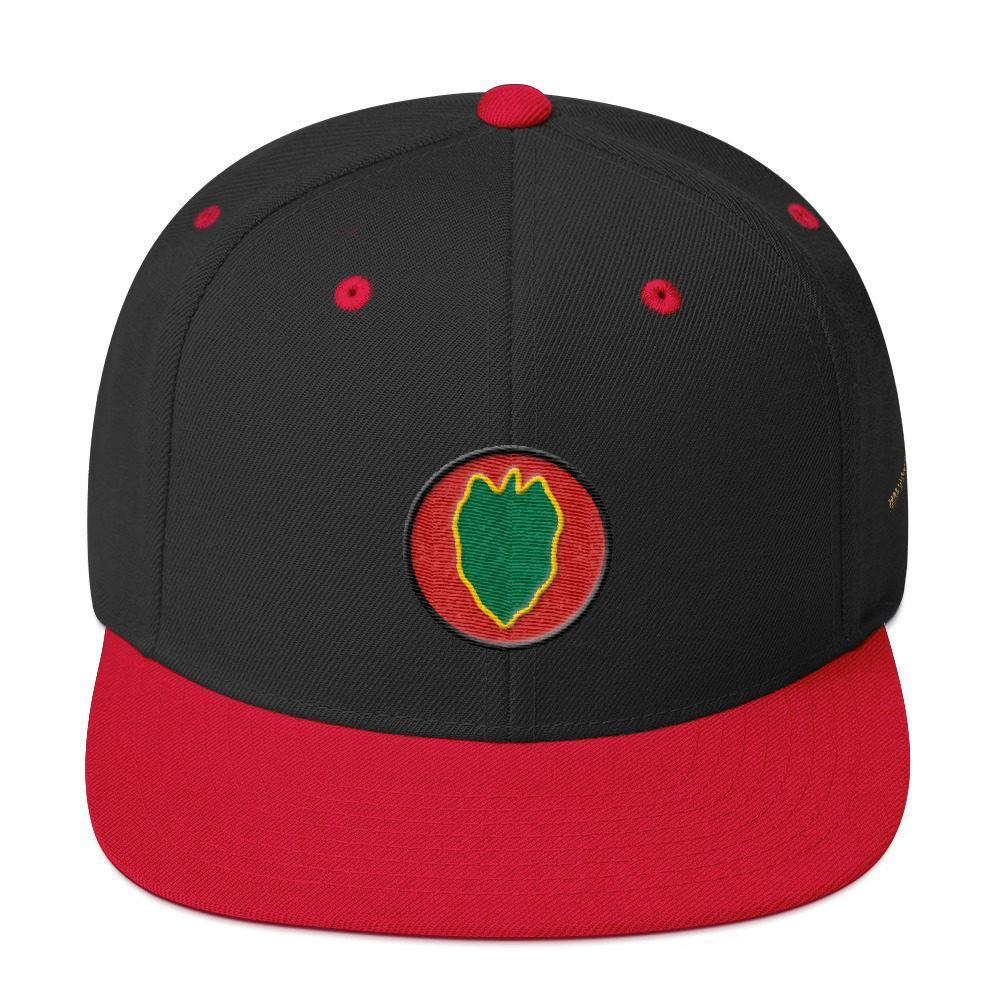 653f97409 USA 24th Infantry Division Snapback Hat - Mega Camo