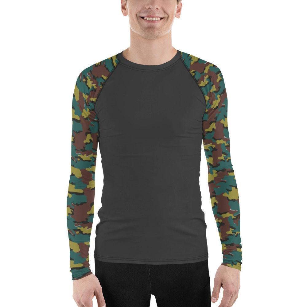 Belgian Jigsaw UBAC's Style Men's Rash Guard Charcoal