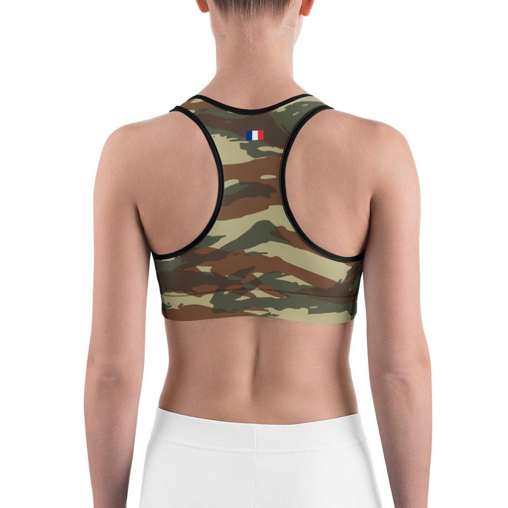 French Lizard type A1 Camouflage Sports bra