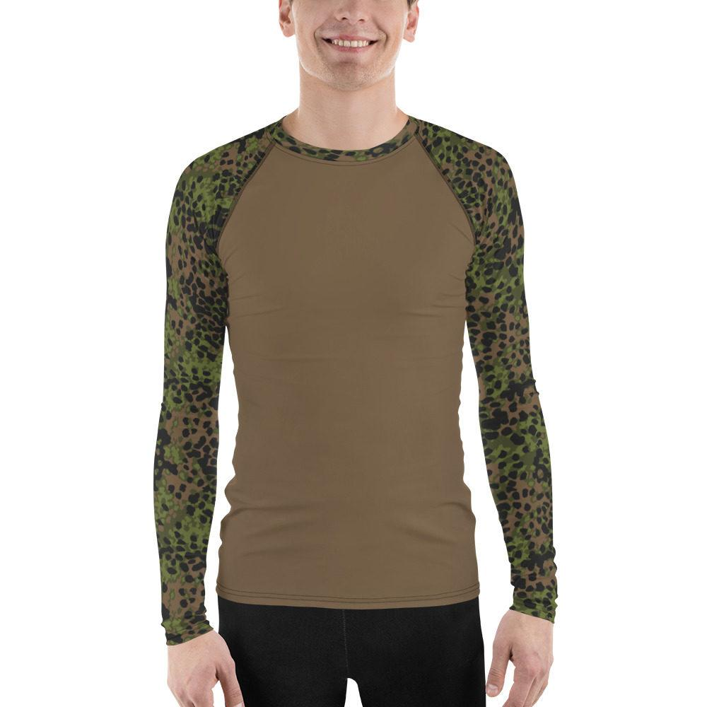 WWII Germany Platanenmuster spring UBAC's Style Men's Rash Guard MKII brown