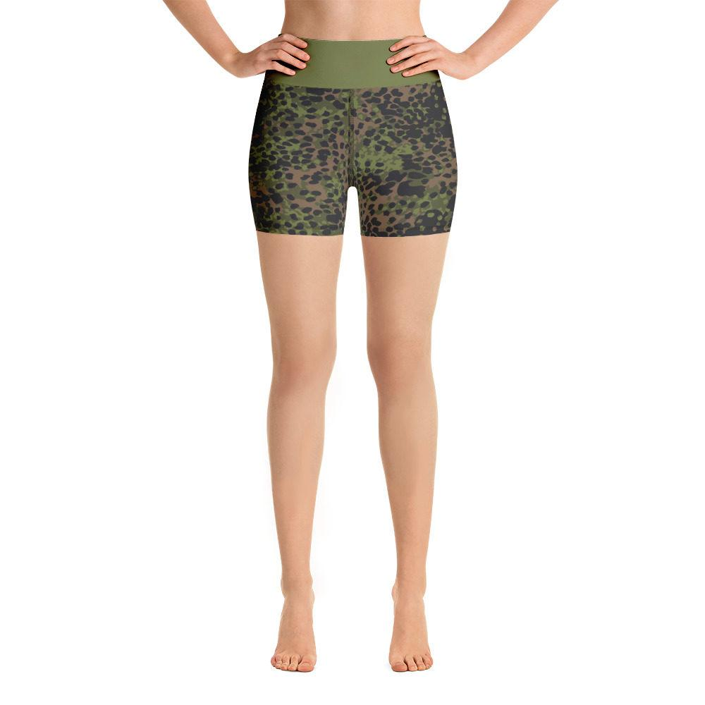 WWII Germany platanenmuster spring Camouflage Yoga Shorts