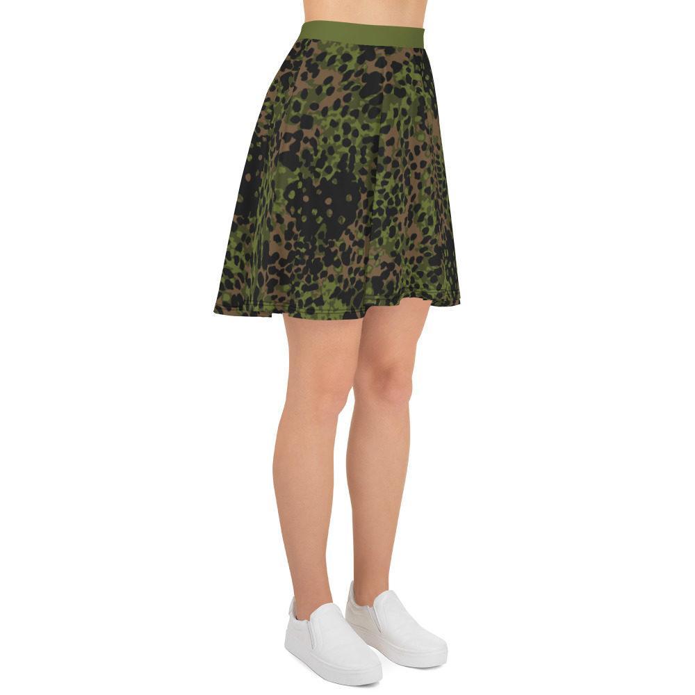 WWII Germany platanenmuster spring Camouflage green belt Skater Skirt