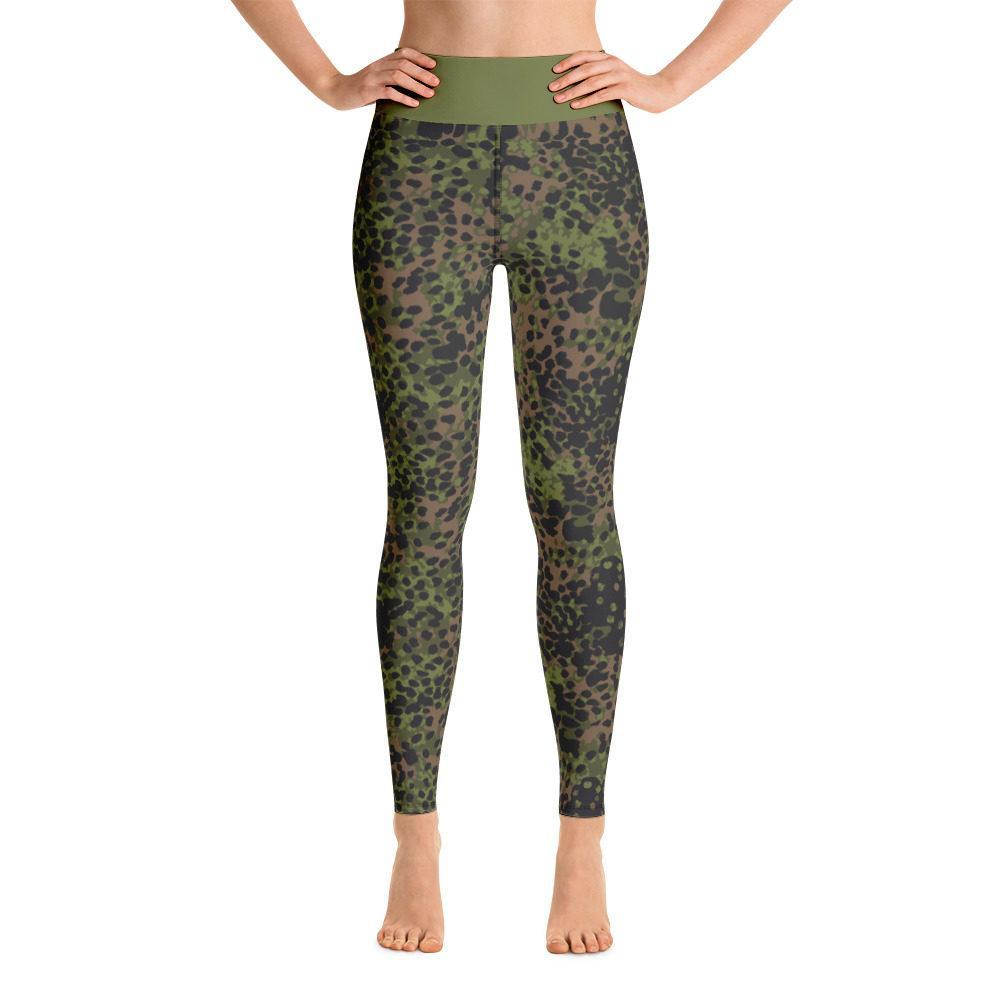 WWII Germany platanenmuster spring Camouflage Yoga Leggings