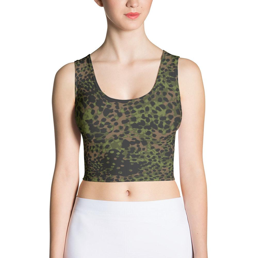 WWII Germany platanenmuster spring Camouflage Crop Top