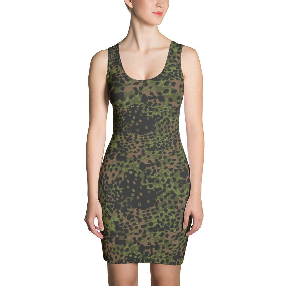 WWII Germany platanenmuster spring Camouflage Cut & Sew Dress