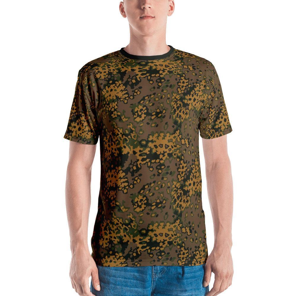 WWII Germany Eichenlaub fall Camouflage black neck Men's T-shirt