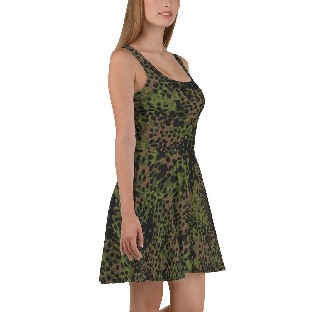 WWII Germany platanenmuster spring Camouflage Skater Dress