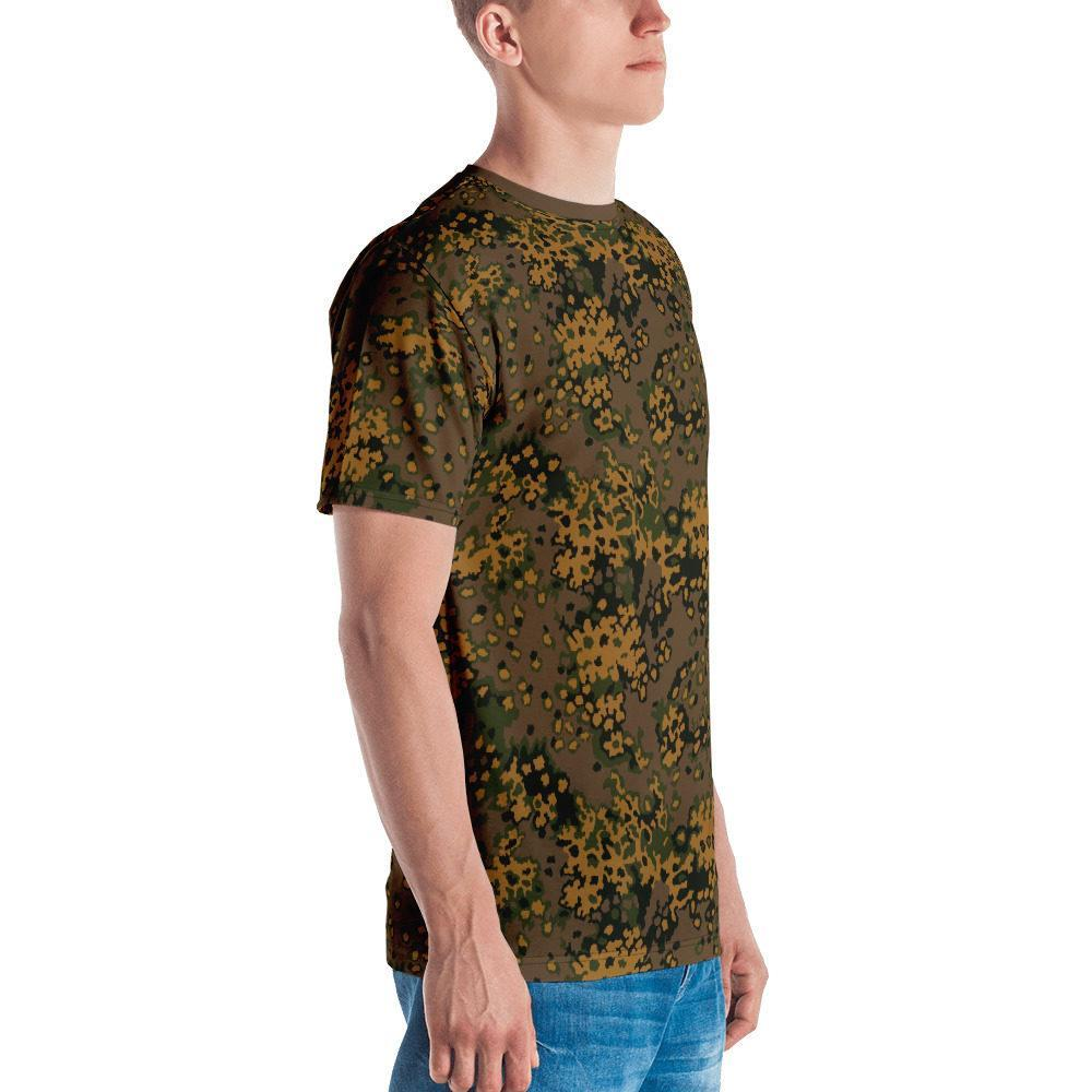 WWII Germany Eichenlaub fall Camouflage brown neck Men's T-shirt