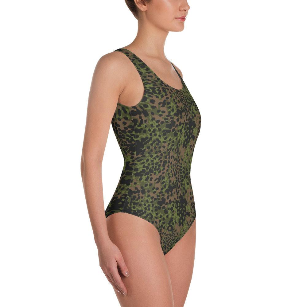 WWII Germany platanenmuster spring Camouflage One-Piece Swimsuit