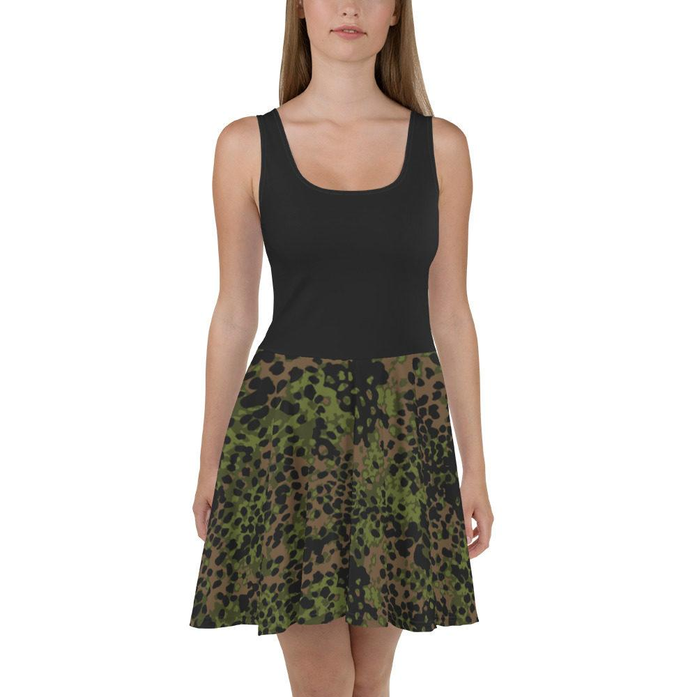 mockup 0ef54297 - WWII Germany platanenmuster spring Camouflage haut noir Skater Dress