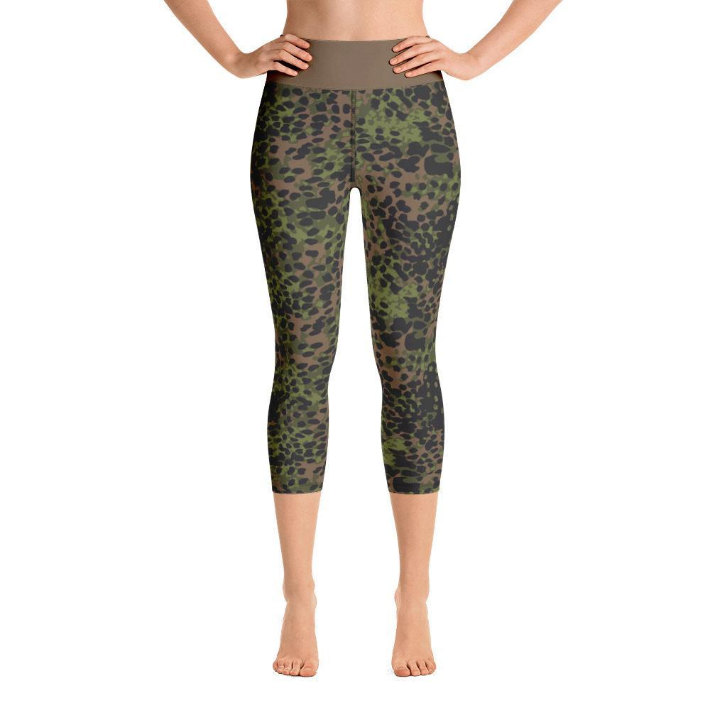 WWII Germany platanenmuster spring Camouflage Yoga Capri Leggings